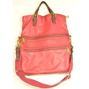 Fossil handbag crossbody messenger fold over hand